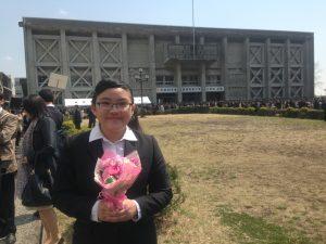 【18期生ステファニー】慶大入学式170403b